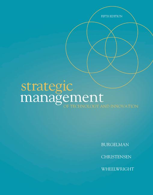 strategical management of technological innovation Melissa schilling's strategic management of technological innovation, 5e approaches the subject of innovation management as a strategic process it is organized to mirror the strategic management process used in most strategy textbooks, progressing from assessing the competitive dynamics of a situation to strategy formulation, to strategy.
