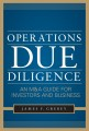 Operations Due Diligence:An MA Guide for Investors and Business